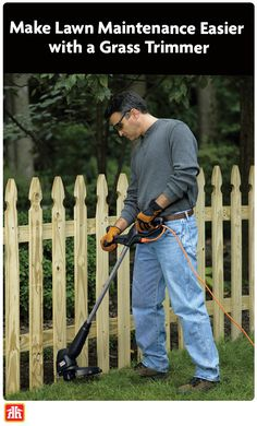 Keeping your lawn well-manicured doesn't have to be a major chore. Discover the tools you need to speed up your yard work Lawn Maintenance, Gardening Tools, Outdoor Power Equipment, Yard, Patio, Courtyards, Garden Tools, Garden, Court Yard