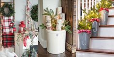 12 Gorgeous Farmhouse Decorating Ideas for Christmas Each idea is more charming than the last.