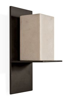 wall sconce with stone shade