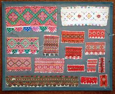 Ukrainian Hutsul Embroidery ~ Ukrainian Museum and Library of Stamford, Connecticut ~ Embroidery samples from the collection of Mother Severine Parille ~ Hutsuls are an ethnographic group of Ukrainian pastoral highlanders inhabiting the Hutsul region in the Carpathian Mountains.
