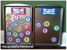 classroom numbers {free printables} Use for: numbering bins, student numbers, student attendance check in, etc. Attendance Board, Taking Attendance, Student Attendance, Classroom Attendance, Preschool Attendance Ideas, Preschool Ideas, Classroom Setup, Kindergarten Classroom, Future Classroom