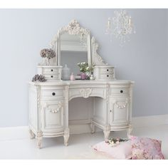 Bonaparte French Dressing Table. Add glamour and romance to your bedroom with this French dressing table by The French Bedroom Company.