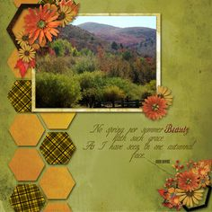 layout made using F2BS's Snappy Scraps Templates Pack 4 and and Wendy Tunison's kit Autumn Harvest.at Scraps N' Pieces.