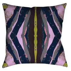 125-2 Navy Chartreuse #1 Pillow Cover
