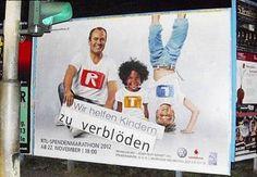 RTL WERBEPLAKAT Wir helfen Kindern zu verblöden
