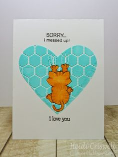 """Crafty Time 4U apology card using the """"naughty Newton"""" stamp set by the Newton's Nook"""