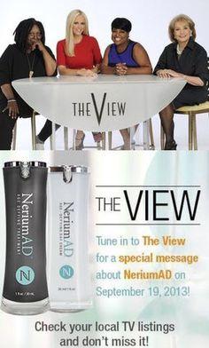 Even The View knows..... suzieszabo.nerium.com suzieszabo.arealbreakthrough.com