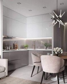 modern kitchen interior Modern Kitchen Cabinets Ideas to Get More Inspiration Dish Kitchen Room Design, Kitchen Cabinet Design, Modern Kitchen Design, Home Decor Kitchen, Interior Design Kitchen, Home Kitchens, Kitchen Ideas, Condo Interior, Grey Kitchens