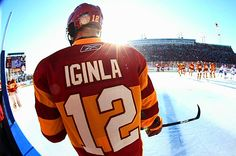 Jarome Iginla will now have a black and yellow jersey