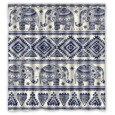 Lush Decor Elephant Stripe Shower Curtain by Lush Decor   Shower ...