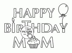 Card For Birthday Mom Coloring Page Kids Holiday Pages Printables Free