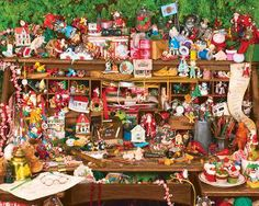Keepsake's on Santa's Desk, a 1000 piece jigsaw puzzle by Springbok Puzzles. Just bought this to do at Christmas!! :D