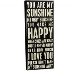"{You're My Sunshine} Subway Sign...I really like this, but I don't really want to pay $39 for it.  I bet I could make it!  The dimensions are: 8"" x 1.75"" x 20"".  That's why I have a Cricut and Silhouette, right?"