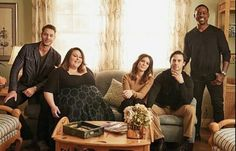 This is Us  Kevin Hartley, Chrissy Metz, Mandy Moore, Milo Ventimiglia and Sterling K Brown