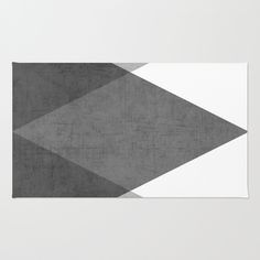 Buy Area & Throw Rugs with design featuring black and white triangles by her art and adorn your home with both style and comfort. Available in three sizes (2' x 3', 3' x 5', 4' x 6').
