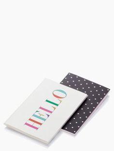 Hello Notebook Set - kate spade new york