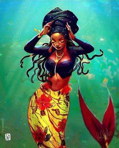 Black pin up art , schwarze pin-up-kunst , pin up art noir , arte pin up negro , classic . Black Love Art, Black Girl Art, Black Girls, Art Girl, Black Women, Black Art Painting, Black Artwork, Black Mermaid, Mermaid Art