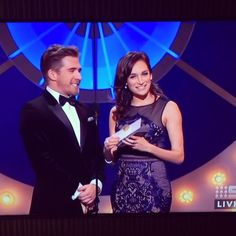 @thenicoledasilva on the Logies Stage wearing our Renaissance Gown #whiterunway…