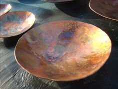 Plato martillado cobre tazón de fuente por ChristCenteredForge