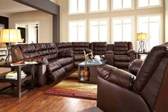 Ashley Furniture Brolayne DuraBlend Sectional in Saddle