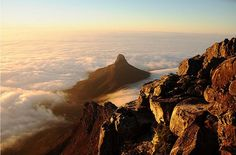 Lions Head from Table Mountain, South Africa Cape Town South Africa, Kwazulu Natal, Table Mountain, Stunning View, Far Away, Places To Go, Tours, Landscape, City