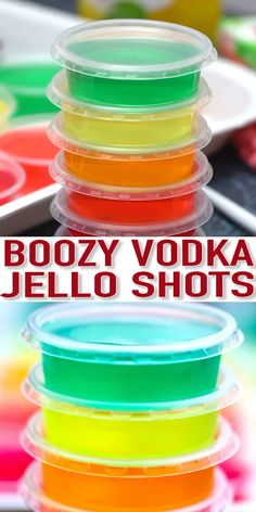 Jello Shots are colorful, and the perfect party cocktail that adults will love! These are pure fun in the form of flavorful jelly! Lighten up your party with these colorful treats! patricks day jello shots Jello Shots Recipe - Sweet and Savory Meals Cherry Jello Shots, Lemonade Jello Shots, Easy Jello Shots, Peach Jello, Making Jello Shots, Champagne Jello Shots, Jello Shot Recipes, Alcohol Drink Recipes, Jello Shots With Tequila