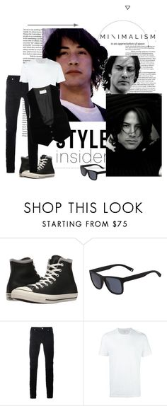 """""""Style Insider"""" by agathap ❤ liked on Polyvore featuring Converse, Lacoste, Diesel Black Gold, Neil Barrett, Yves Saint Laurent, men's fashion and menswear"""