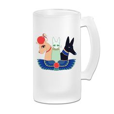 Geek Exotic Cats Deity Frosted Glass Pub Big Beer Mug - 500ML -- Hurry! Check out this great product (This is an amazon affiliate link. I may earn commission from it)
