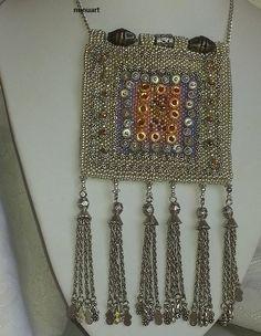 Traditional Yemenite prayer and charm box made of glass beads