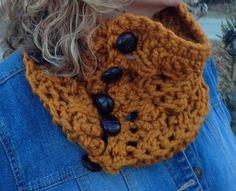 The Butterscotch Cowl Crochet Pattern  Chunky Cowl by Stolenhook