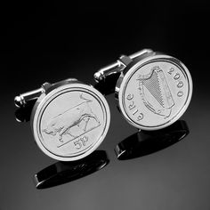 Canadian dime Cufflinks from 2008 for 10th 2008 10th Tin Birthday//Anniversary Canadian Dime Cufflinks