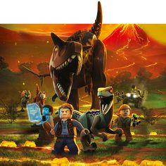 There's a dinosaur for every age with exciting LEGO® Jurassic World™ play sets featuring cool vehicles, heroic characters, iconic buildings, laboratories, scientific equipment and Lego Jurassic World Dinosaurs, Jurassic World Indominus Rex, Lego Jurassic Park, Lego Dinosaur, Jurassic Park Party, Jurassic Park World, Dinosaur Birthday, Jurassic World Hybrid, Jurassic World Fallen Kingdom