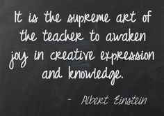 The art of a teacher. Have you had a teacher influence you in this way? Make sure you thank them for all their hard work and dedication.