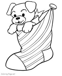 Christmas Stockings Coloring Page 1 Christmas stocking