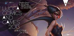 """Lucca Comics e Game 2013: Promotion Poster Making Of  Com'è nato il poster ufficiale di Lucca Comics & Games 2013. Dalle composizioni di Andrew Silver al tocco glamour di Katie De Sousa, in un video gli artisti di Riot Games hanno affrontato la sfida del tema di questa edizione: """"Questione di Stile"""""""