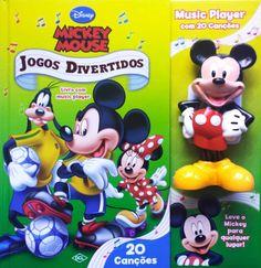 Livro Mickey Mouse Jogos Divertidos com Music Player