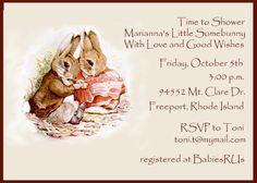 Baby Shower Invitation  Beatrix Potter by celebrationspaperie, $11.50