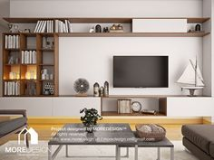 Be amazed by these home decor ideas. In this board you will find inspirations that will help you to decorate your house. Living Room Tv Unit Designs, Living Dining Room, House Interior, Room Layout, Living Room Tv, Living Decor, Condo Living Room, Built In Shelves Living Room, Living Room Designs