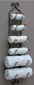 Towel Organizer Holder Wall IMAX Wine Rack Mounted Shelf Hanger Bathroom Decor | eBay