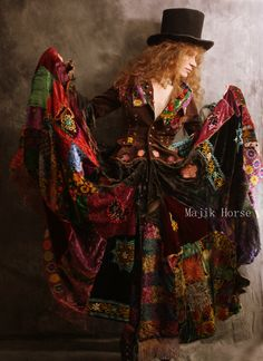 WAITING LIST Made to Order Vintage Hippie Gypsy FairyTale Dress Coat Embroidered Patchwork Velvet Majik Horse by MajikHorse on Etsy https://www.etsy.com/listing/91899807/waiting-list-made-to-order-vintage