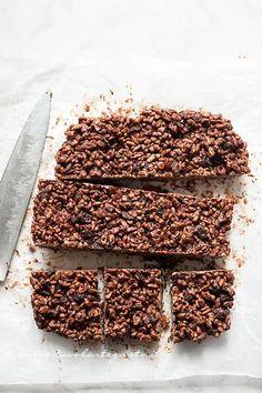 Tagliare le barrette - Ricetta Barrette di riso soffiato e cioccolato