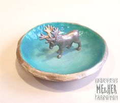 This Ring/Jewlery dish is intended for decorative and storage purposes only. As these are handmade, each piece is unique and color and shape will