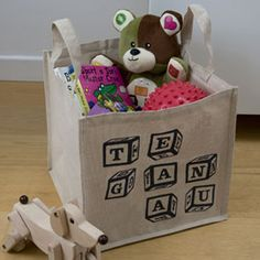 Contemporary Kids Wales Welsh toy storage bag : Adra - Stylish and contemporary Welsh Gifts