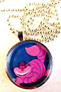 Cheshire cat. Alice & Wonderland Necklace.