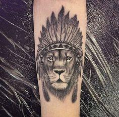 Tatouage loup indien