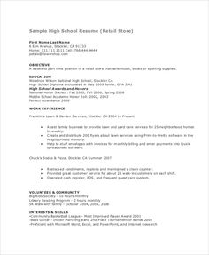 Resume for young college student