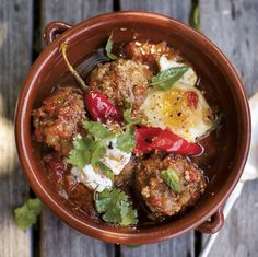 A Girl and Her Pig's Lamb Meatballs with Yogurt, Eggs, and Mint: http://f52.co/1cUVVVm #Food52