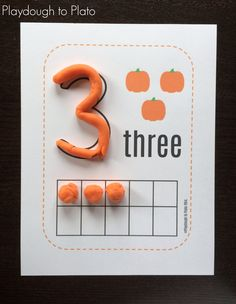 5 Little Pumpkins Playdough Mats