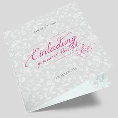 Hochzeitseinladungskarten mit floralen Elementen - Hochzeitseinladung modern und angesagt. Container, Inspiration, Modern, Design, Paper, Love Story, Monogram, Card Wedding, Floral Patterns