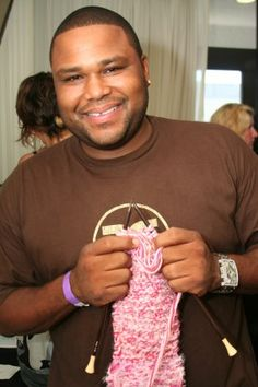 "Anthony Anderson (K-Ville, Transformers, The Shield) ""My grandmother taught me to knit."""